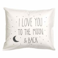 Cotton pillowcase - White/Moon - Home All | H&M GB