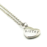 Sister Heart Necklace