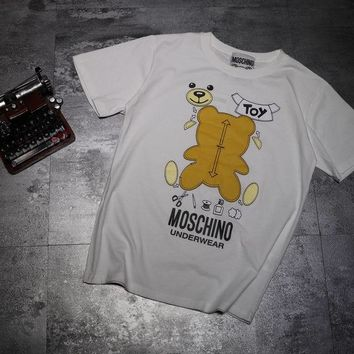 Moschino Short Round Collar Short Sleeve T-shirts #2965690