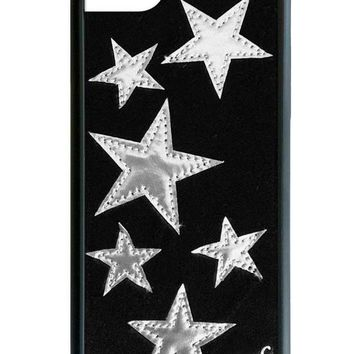 Black Velvet Silver Star iPhone 6/7/8 Case