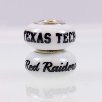 Texas Tech Red Raiders College Beads and Charms Fit Pandora Style Bracelets. College Jewelry
