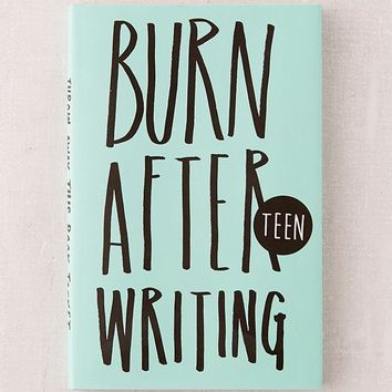 Burn After Writing: Teen By Rhiannon Shove | Urban Outfitters