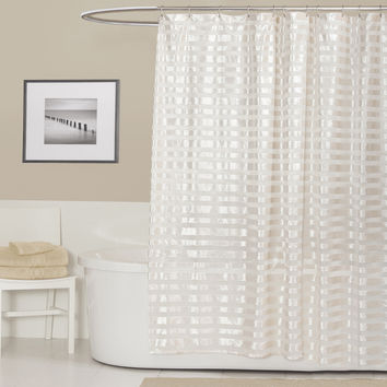 Lush Decor Royal Tide Ivory Shower Curtain