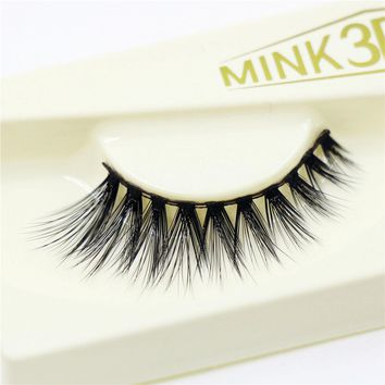 3D False Eyelashes Messy Cross Thick Natural Fake Eye Lashes Professional Makeup Handmade Exquisite Packaging 3D-03