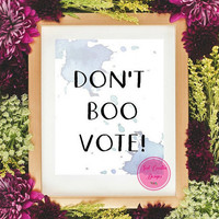 50% Off Sale-Obama Printable Art,Watercolor Print Art,Inspirational Prints,Motivational Quote Art,Wall Art Poster,Vote Quote Poster Art