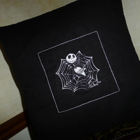 Jack Skellington Nightmare Before Christmas PILLOW COVERS BoUTIQUE DeSiGN EMBROIDERED Exceptional DIMENSiON & Details Designs by Sugarbear