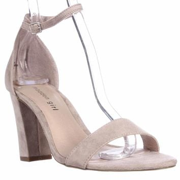 madden girl Beella Ankle Strap Dress Sandals, Blush, 10 US / 40 EU
