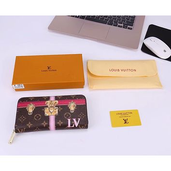 LV Louis Vuitton 2018 new limited edition classic long zipper wallet F-WMXB-PFSH #6
