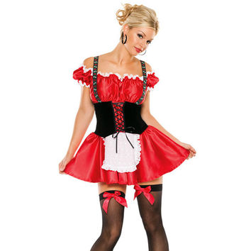 y Lady Bavarian Wench Beer Girl Costume Fancy Dress Outfit halloween costumes for women carnival dress Alternative Measures - Brides & Bridesmaids - Wedding, Bridal, Prom, Formal Gown