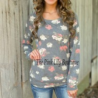 Take It Easy Floral Sweater