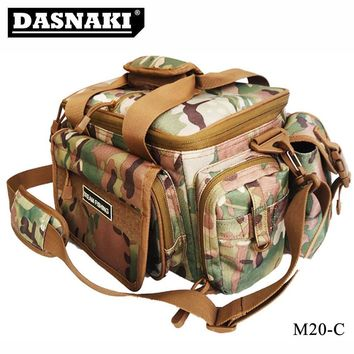 Multifunctional lure Shoulder bags pole package fishing tackle camo fishing bags for fishing reels