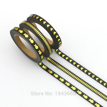New 3pcs  series slim washi tape set 5mm*7m Split line masking tapes decoration Stickers Stationery school supplies