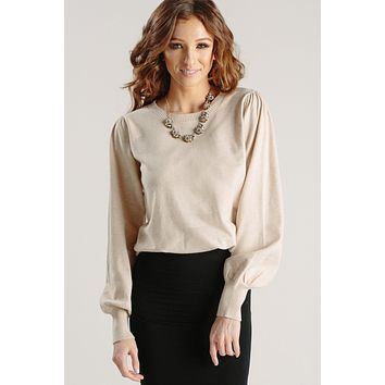 Grace Cream Balloon Sleeve Sweater