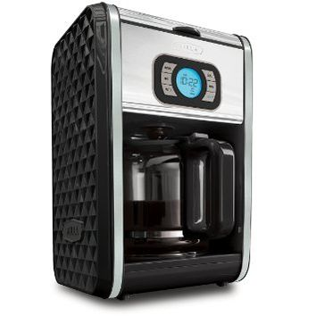 BELLA BLA14319 Diamonds Programmable 12-Cup Coffee Maker, Black