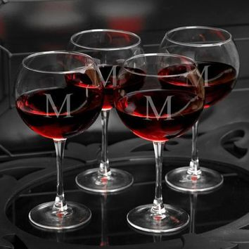 Set of 4 Red Wine Glasses
