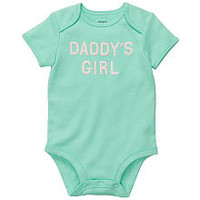 "Carter's Girls ""Daddy's Girl"" Embroidered Short Sleeve Bodysuit"