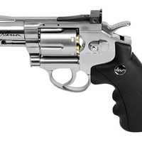 "Dan Wesson 2.5"" CO2 BB Revolver, Silver air pistol"