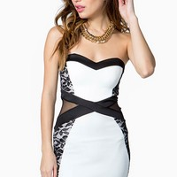 Lace Contour Cut Out Dress