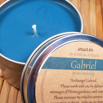 Gabriel Archangel Candle - Call Upon Angel Gabriel For Guidance & Message You Need To Hear