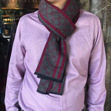 Gucci Men Fashion Casual Wool Knit Scarf