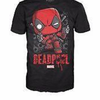 Funko Pop Tees: Marvel - Deadpool Shots Shattered (Large)