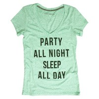 Junior's Party All Night Graphic Tee