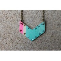 Chevron Wooden Necklace