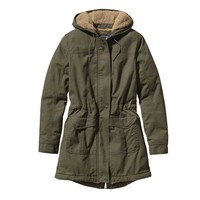 Patagonia Insulated Prairie Dawn Parka for Women in Industrial Green 28290-GREEN