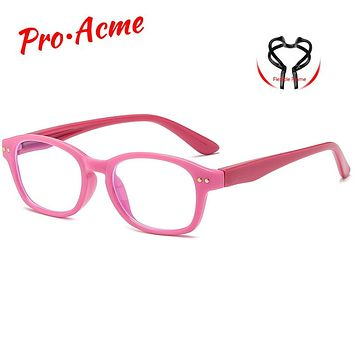 Pro Acme Blue Light Blocking Glasses for Kids UV Protection TR90 Flexible Computer Gaming Glasses for Children Age 3-12 PC1597A