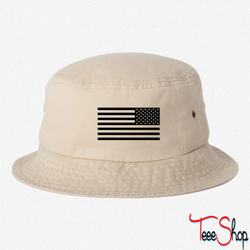 american flag mirror  BUCKET HAT