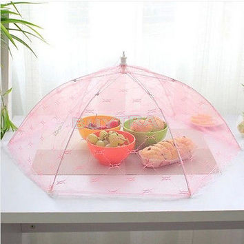 45 Tent for Food Umbrella Cover Picnic Barbecue Party Sport Fly Mosquito Net 3C