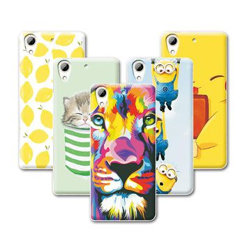 """Fruit Painting Cat Minions Desire 628 coque For HTC Desire 628 D628 Dual Sim Case Cover 5"""" Soft TPU fundas For HTC 628+Gift"""