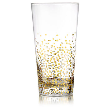 Gold Luster Highball Glasses, Set of 4, Highballs