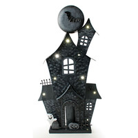 Lighted Haunted House Halloween Decoration