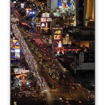 Stunning Las Vegas Strip Lights & Skyline at Night iPhone 5 Quality Hard Snap On Case for iPhone 5/5s - AT&T Sprint Verizon - White Case