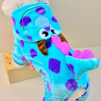 Dog Jacket - Blue Dragon Party Costume