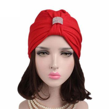 ONETOW Women Bow Cancer Chemo Hat Beanie Turban Head Wrap Cap High Quality Fitted Cotton Hot For winter women hat