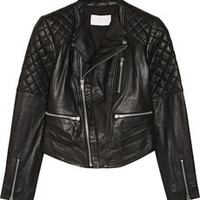 W118 by Walter Baker Mindy leather biker jacket – 50% at THE OUTNET.COM