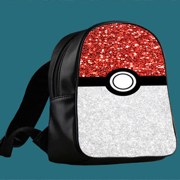 Pokemon Pokeball Sparkle for Backpack / Custom Bag / School Bag / Children Bag / Custom School Bag ***