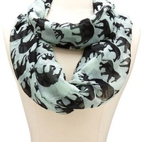 Elephant Print Infinity Scarf: Charlotte Russe