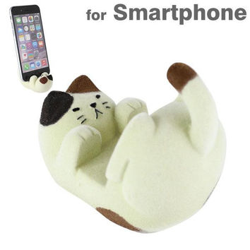 Necoron Flocky Cat Doll Smartphone Stand (Calico)