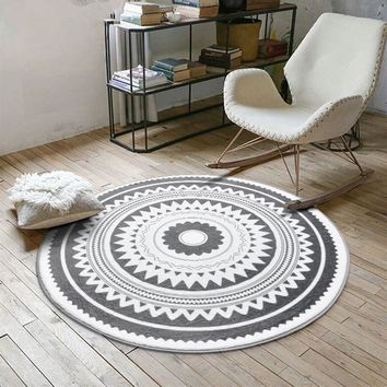 Nordic Gray Series Round Carpet. Area Rug, Tent, Tee Pee  Floor Mat, Rugs And Carpets