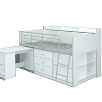 Rack Furniture Clairmont Loft bed,White