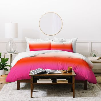 Natalie Baca Under The Sun Ombre Duvet Cover