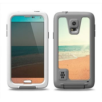 The Vintage Beach Scene Samsung Galaxy S5 LifeProof Fre Case Skin Set