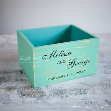Wedding invitation box wedding wishes box advice for the bride and groom wood box advice for the new mommy bridal shower gift for the bride