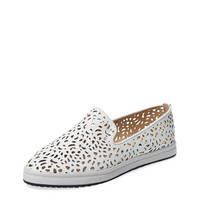 Esther Perforated Leather Slip-On Sneaker