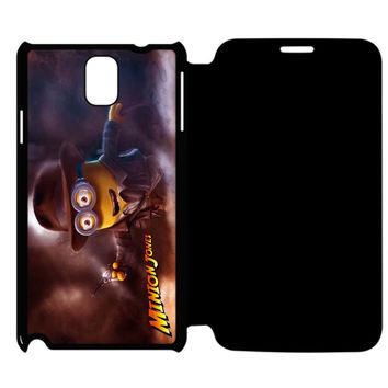 Funny Minion Jones Samsung Galaxy Note 4 Flip Case Cover