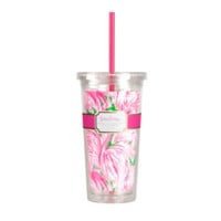Lilly Pulitzer Pink Colony Straw Tumbler
