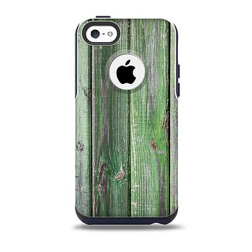 The Mossy Green Wooden Planks Skin for the iPhone 5c OtterBox Commuter Case